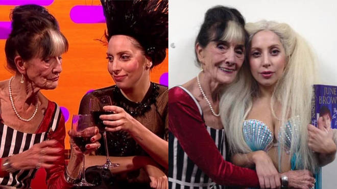June Brown and Lady Gaga met on The Graham Norton Show in 2013
