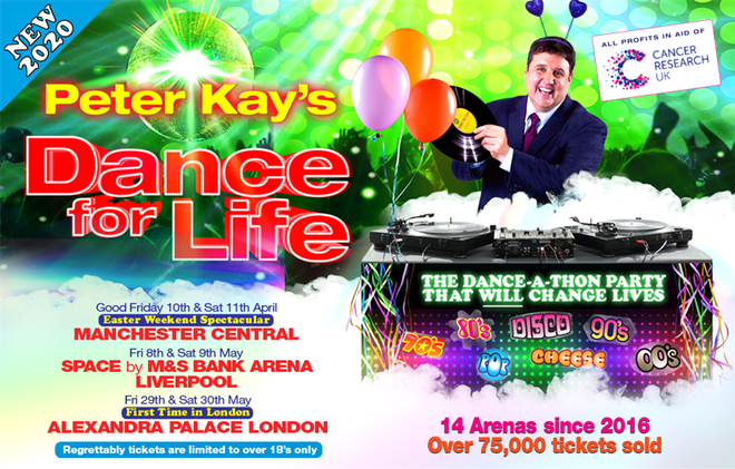Peter Kay announces Dance For Life 2020 arena tour - ticket and venue details revealed