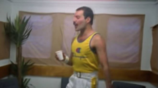 Freddie Mercury singing acapella backstage at Knebworth, 1986