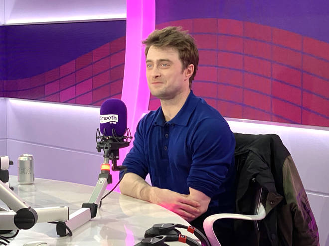Daniel Radcliffe in the Smooth Radio studio
