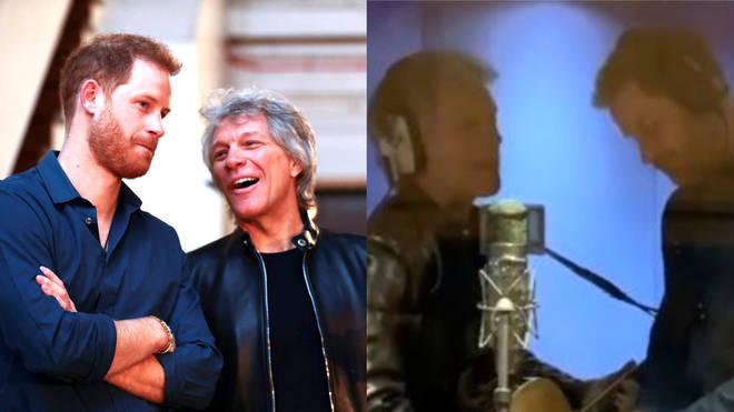 Jon Bon Jovi and Harry at Abbey Road