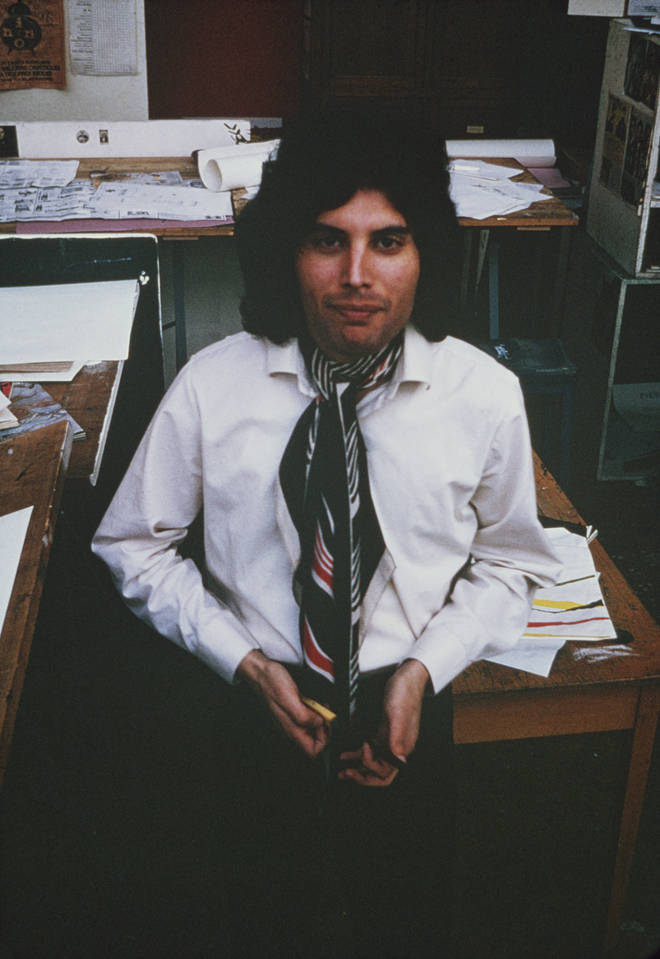 Freddie Mercury pictured at Ealing Art College in London in 1969