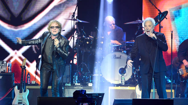 Mick Hucknall and Sir Tom Jones perform surprise duet at The O2 Arena