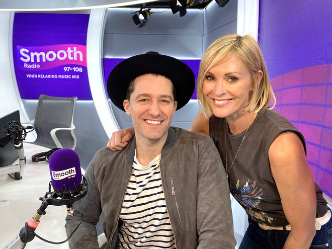 Matthew Morrison in the Smooth Radio studio with Jenni Falconer