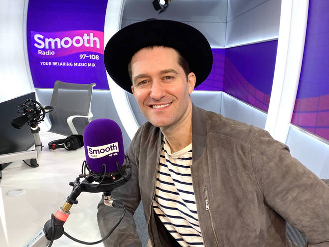 Matthew Morrison in the Smooth Radio studio
