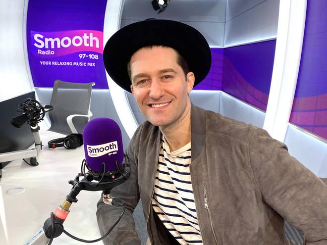 Matthew Morrison in the Smooth Radio studio