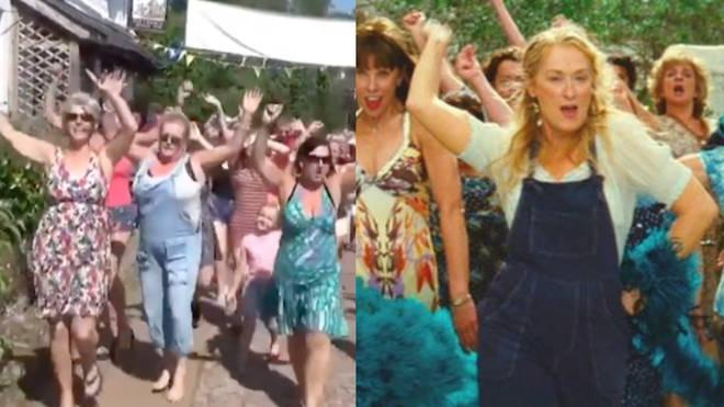 Mamma Mia scene recreated