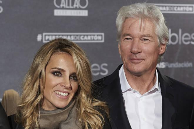 Richard Gere and wife Alejandra
