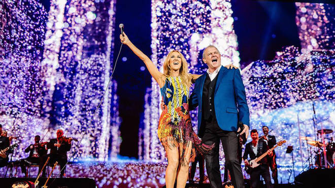Celine Dion and John Farnham