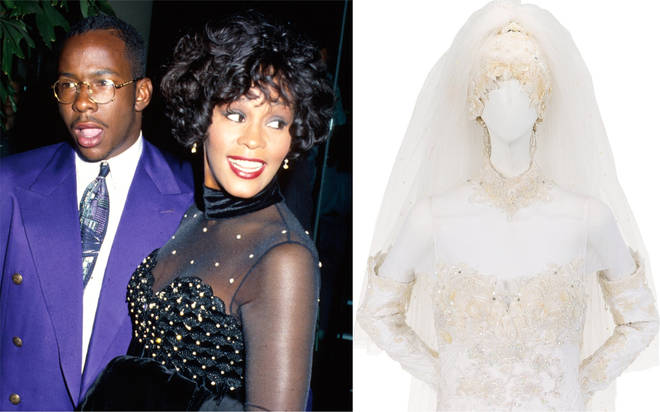 Whitney Houston's wedding dress from Bobby Brown marriage up for auction sale