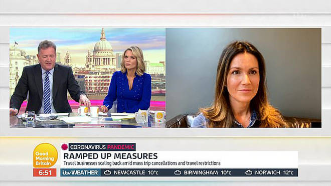 Susanna Reid broadcasts to Good Morning Britain from home as she self-isolates amid coronavirus fears