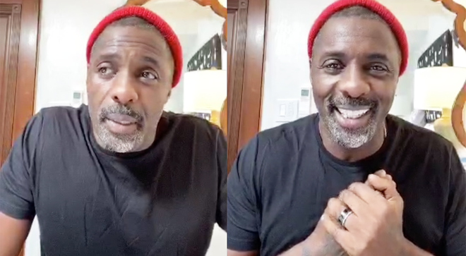 Idris gave the update on his health after revealing he had tested positive for COVID-19 earlier this week