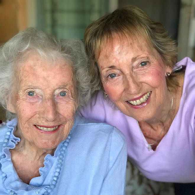 Dame Vera Lynn with her daughter