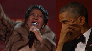 Aretha and Obama