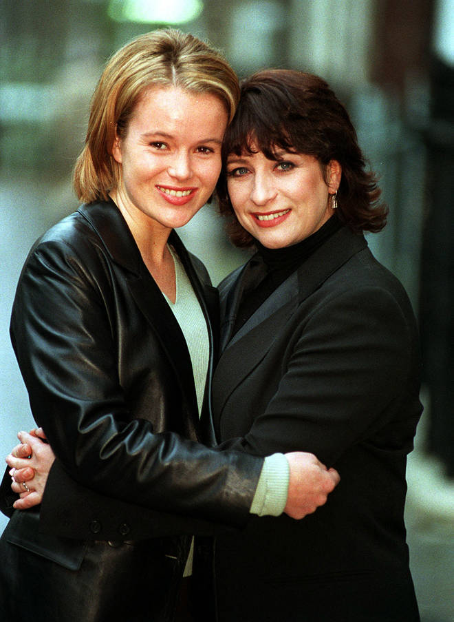 Amanda Holden and Caroline Quentin starred in Kiss Me Kate together