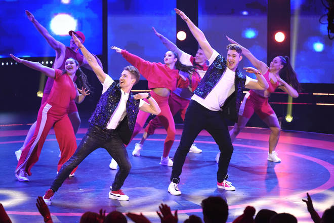 AJ Pritchard and his brother Curtis performing on Sport Relief 2020