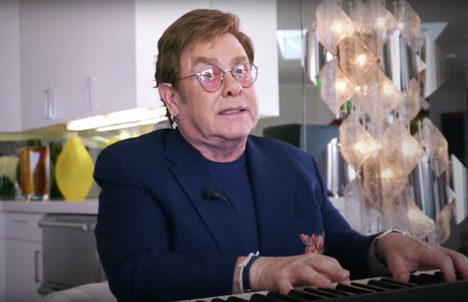 Elton John hosted the living room concert, which saw a host of music stars come together
