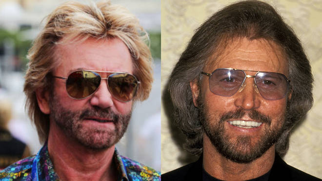 Noel Edmonds and Barry Gibb