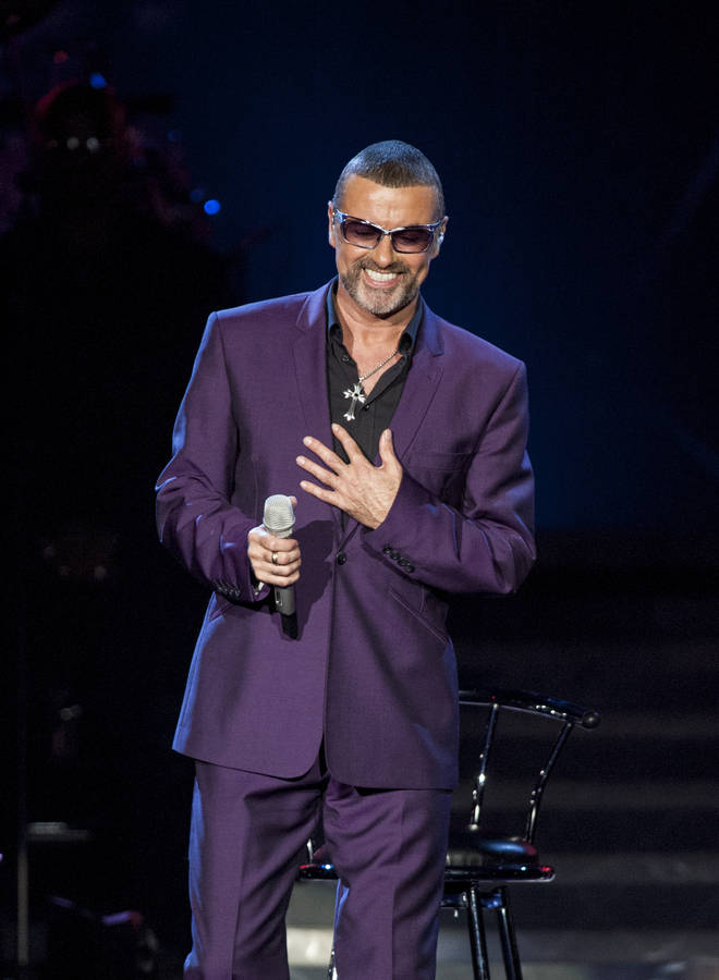 George Michael performed the free concert for 2,000 NHS nurses. Pictured in 2012