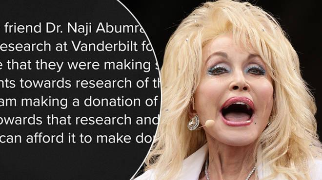 Dolly Parton has made a generous pledge to help fund a coronavirus vaccine