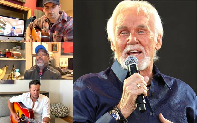 Brad Paisley, Darius Rucker and Luke Bryan pay tribute to Kenny Rogers