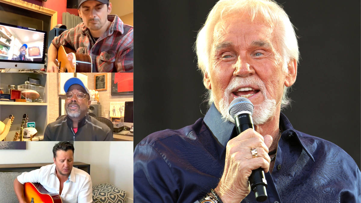 Kenny Rogers: Country stars Luke Bryan, Darius Rucker and Brad Paisley pay tribute with at-home medley
