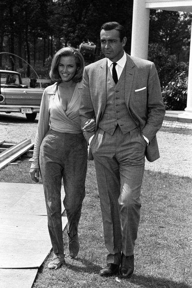 Sean Connery and Honor Blackman in 1964