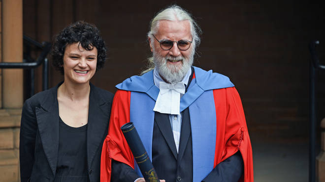Billy Connolly with daughter Cara