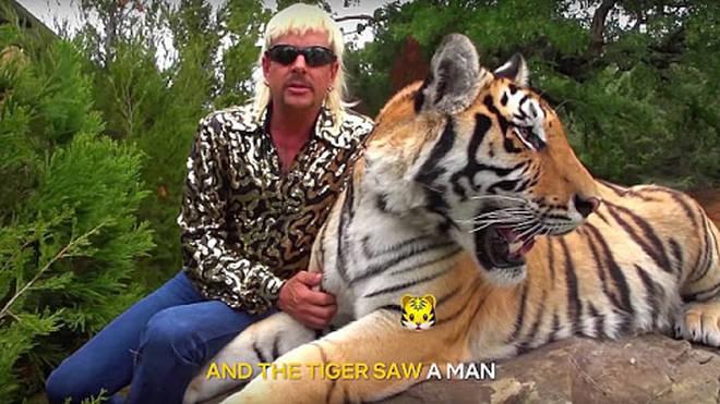 Joe Exotic and his tiger