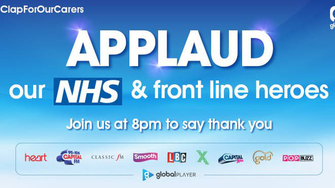 Clap For Our Carers: Join Smooth and Applaud our NHS and Frontline Heroes at 8pm