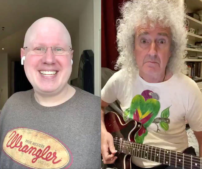 Queen's Brian May joined Matt Lucas for 'Thank You Baked Potato' duet