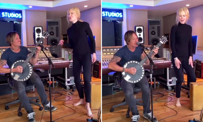 Nicole Kidman videobombed husband Keith Urban's Facebook Live concert