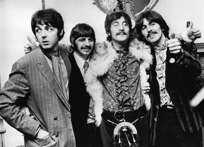 Paul McCartney (left) pictured with The Beatles in 1967