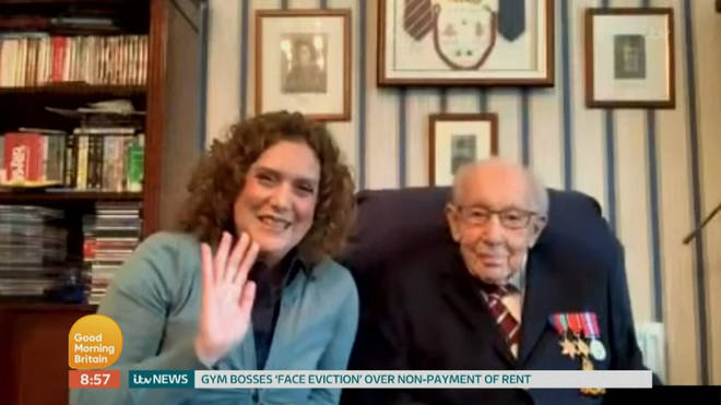 Captain Tom and daughter Hannah Ingram-Moore speaking about their campaign on Good Morning Britain