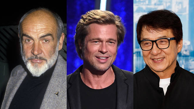 (L to R) Sean Connery, Brad Pitt and Jackie Chan are among the top 20 richest actors in the world