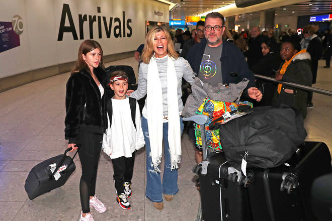 Kate Garraway with husband Derek Draper and children Darcey and Billy