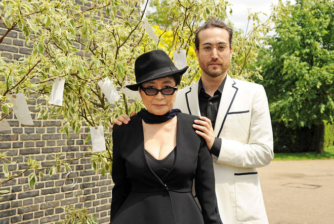 Yoko Ono and her son Sean Taro Ono Lenno