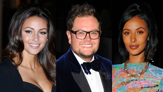 The rumoured Strictly 2020 line-up includes (L to R) Michelle Keegan, Alan Carr and Maya Jama