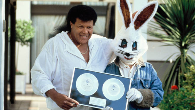 Chubby Checker with Jive Bunny in 1989