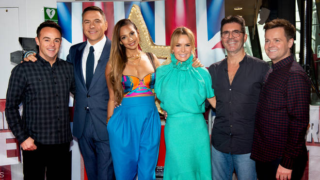 Amanda Holden with her Britain's Got Talent co-stars
