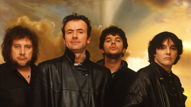 The Stranglers in 1988 (left to right: Jet Black, Hugh Cornwell, Jean-Jacques Burnel and Dave Greenfield)