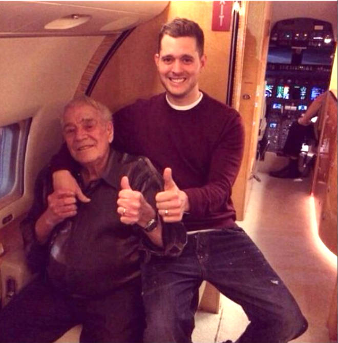 Grandpa Mitch with his grandson Michael Bublé