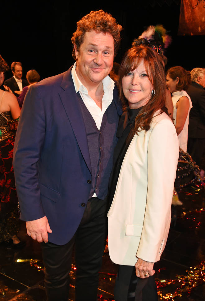 Michael Ball and Cathy pictured in 2016