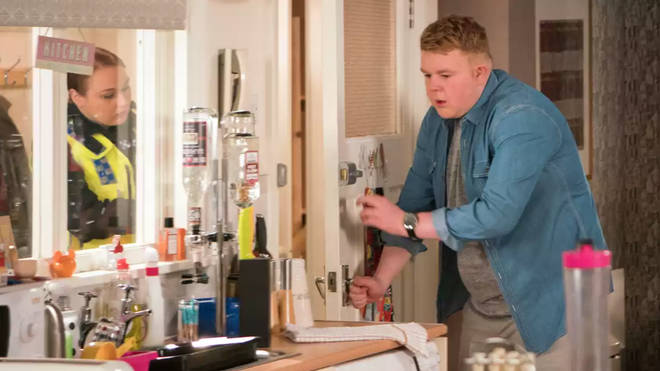 Colson Smith as his character Craig Tinker in Coronation Street