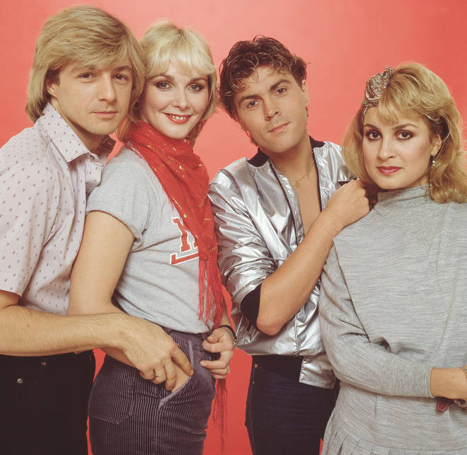 Bucks Fizz in their '80s heyday, pictured in 1982