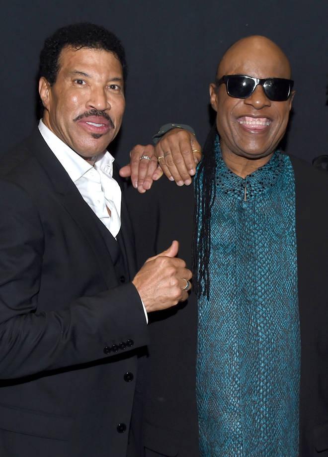 Lionel Ritchie and Stevie Wonder