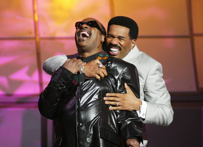 Stevie Wonder and Steve Harvey