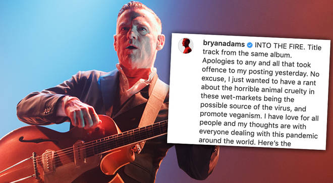 Bryan Adams apologises for controversial social media coronavirus rant earlier this week