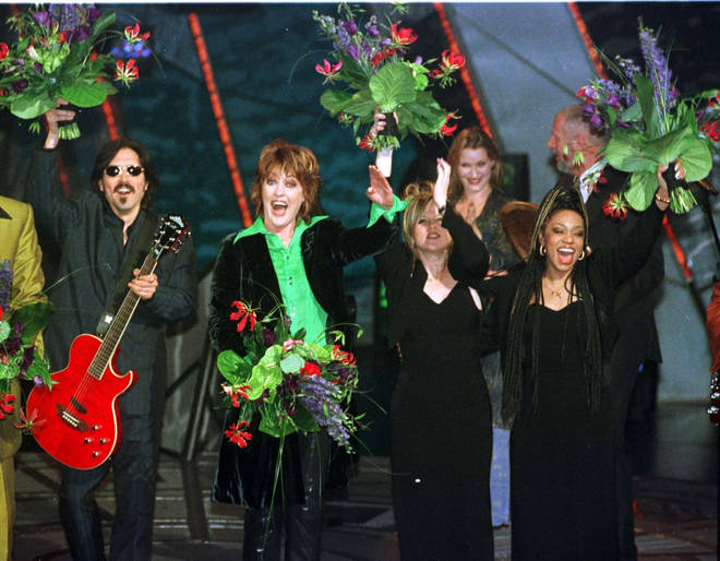 Katrina and the Waves winning the Eurovision Song Contest in 1997
