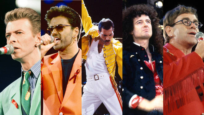 David Bowie, Queen, George Michael and Elton John were among the performers at the 1992 Freddie Mercury Tribute Concert